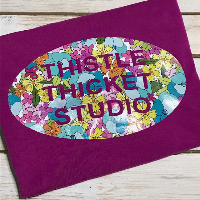 Custom Printed Vinyl T-Shirt Decal Designed By Thistle Thicket Studio. www.thistlethicketstudio.com