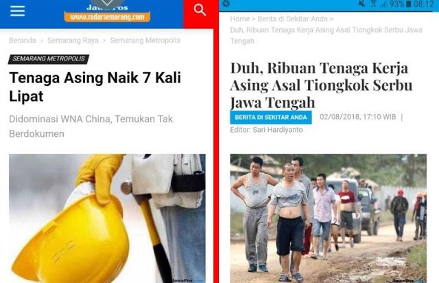 MEROKET 7X LIPAT, Ribuan Tenaga Kerja Asing Asal China Serbu Jawa Tengah
