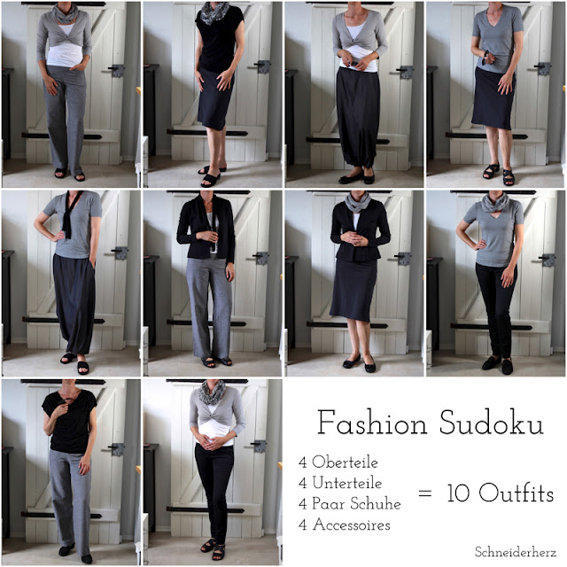Outfits Kombinationen Capsual Wardrobe Fashion DIY Selber nähen