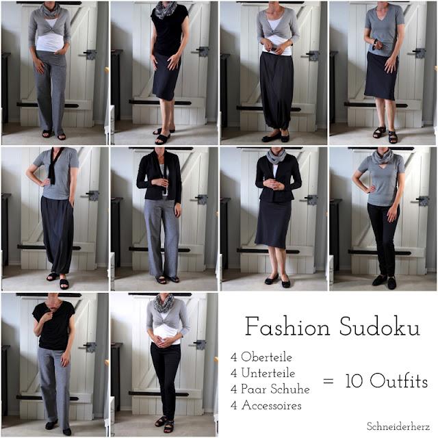 Outfits Kombinationen Capsual Wardrobe Fashion DIY Selber nähen
