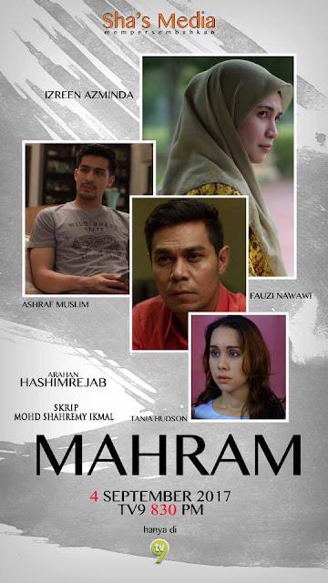 Telemovie Mahram Lakonan Izreen Azminda, Ashraf Muslim