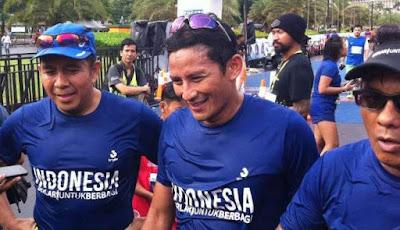 Satu yang Bikin Sandiaga Uno Kecewa di Jakarta Marathon