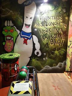 Ghostbusters graffiti artwork at the Liverpool Ghetto Golf course