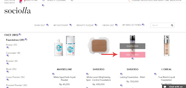 Shop at sociolla is very practical. They have a beauty clique program with their own advantages and goodness. They provide reviews so you can always reflect back before buying. The system of shopping in here is based on points (2500 = 1 pts) and of course, FREE shipping fee to Indonesia! products are all authentic!