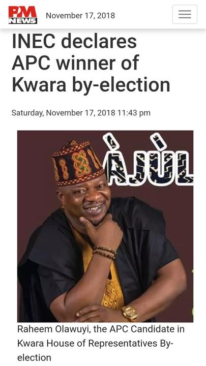 (Photos) APC wins Kwara-bye election and Katsina-bye election
