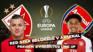new gersy/ Red Star Belgrade vs Arsenal: Europa League