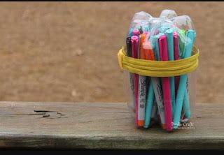 Cara Membuat Tempat Pensil Dari Botol Plastik Bekas Air Mineral