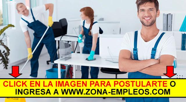 PERSONAL DE LIMPIEZA - NO SE REQUIERE EXPERIENCIA