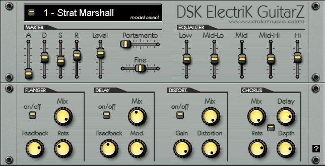 DSK Electrik GuitarZ VST Free Download - Free VST Plugins
