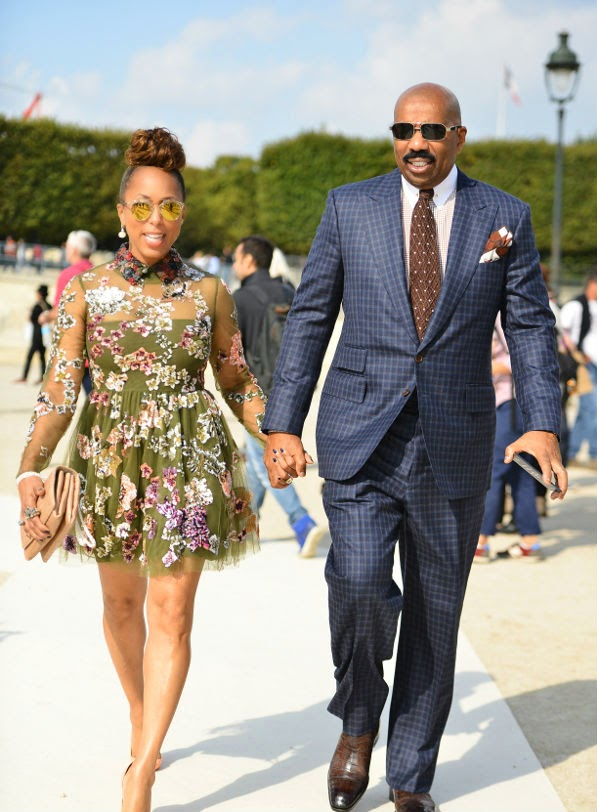 000d117d39 Marjorie Harvey's Valentino Spring 2015 Show Valentino Fall 2014 Tulle  Embroidered Dress and Christian Louboutin So Kate Pumps.