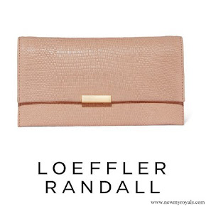 Kate Middleton carried Loeffler Randall Tab Lizard effect Leather Clutch