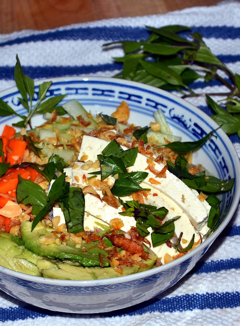 Vietnamese Rice Noodle Bowl with Tofu – Bun Dau Hu