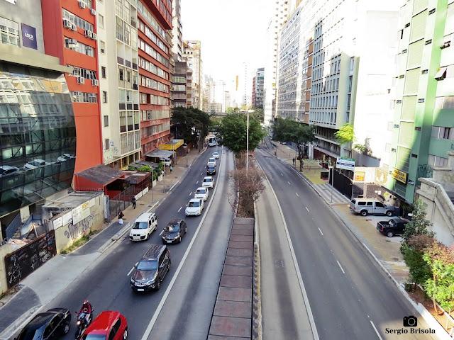 Vista de trecho da Avenida Nove de Julho na Bela Vista - São Paulo