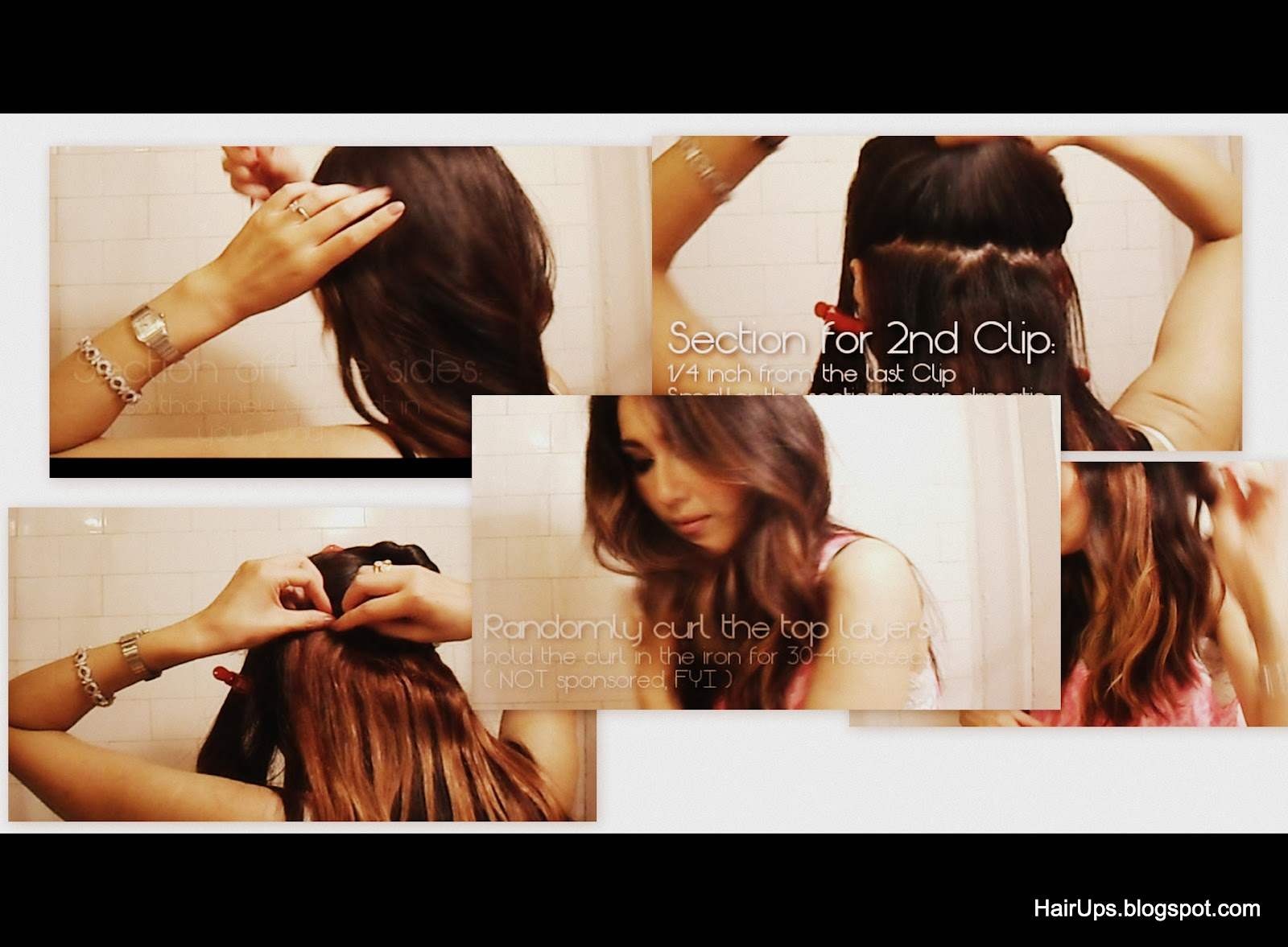 Hairup EASY Hairstyles Tutorial HOW TO OMBRE Dip Dye Hairstyle  Sexy