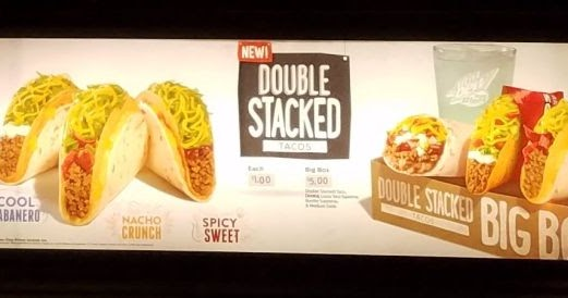 Taco Bell Tests New Double Stacked Tacos Brand Eating