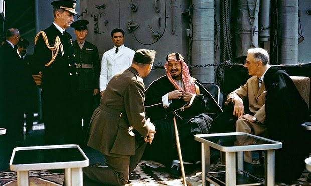 King Abdulaziz and Franklin D. Roosevelt in Bitter Lake
