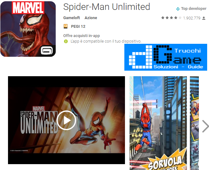 Trucchi Spider-Man Unlimited Mod Apk Android v1.8b