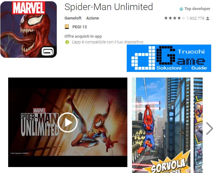 Trucchi Spider-Man Unlimited Mod Apk Android v1.8b