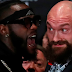 Tempers flare as shirtless Tyson Fury & Deontay Wilder clash at fiery LA presser