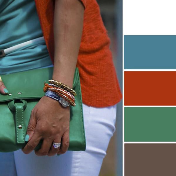 Модное сочетание цветов в одежде: лучшие варианты лета 2017