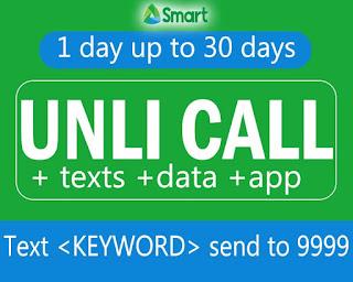 Smart Unli Call Promo