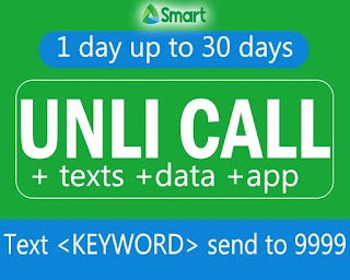 Unli Call Promo for Smart – 20, 30, 50, 100, 350 up to 500 Pesos