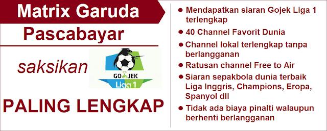 Matrix Garuda Pascabayar Gojek Liga 1 2018