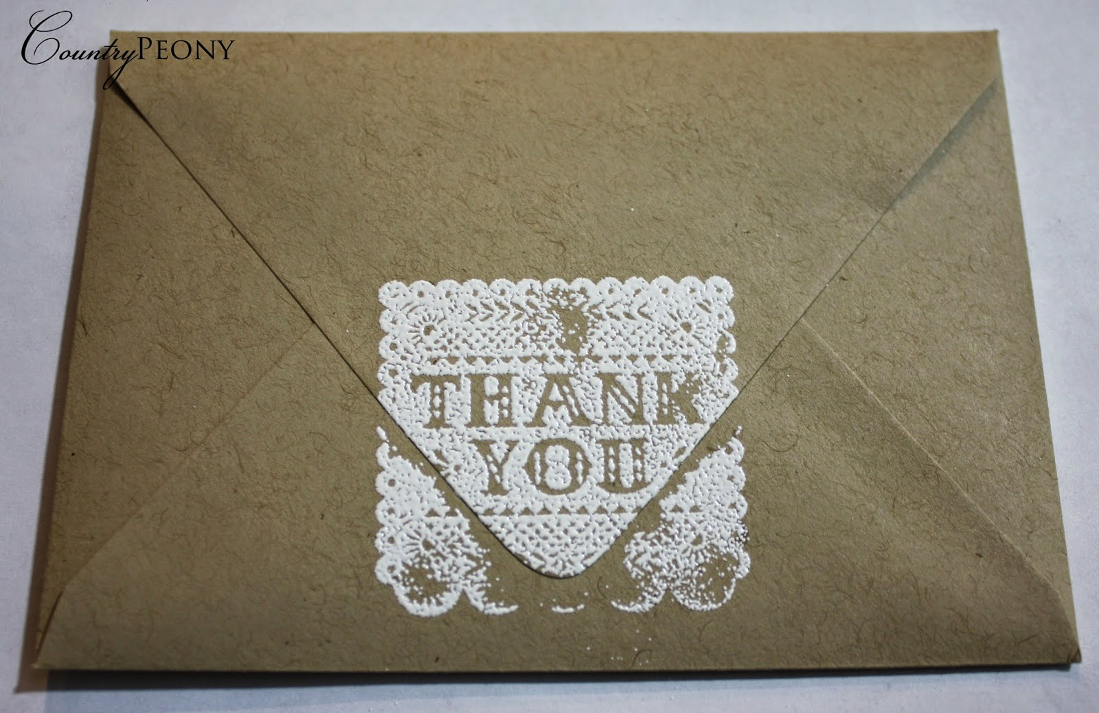 Thank you white embossing powder