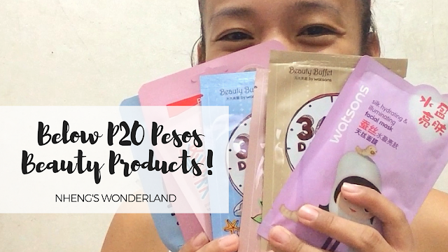 Below P20 Pesos Beauty Products!