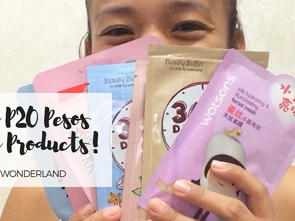 Below P20 Pesos Beauty Products!