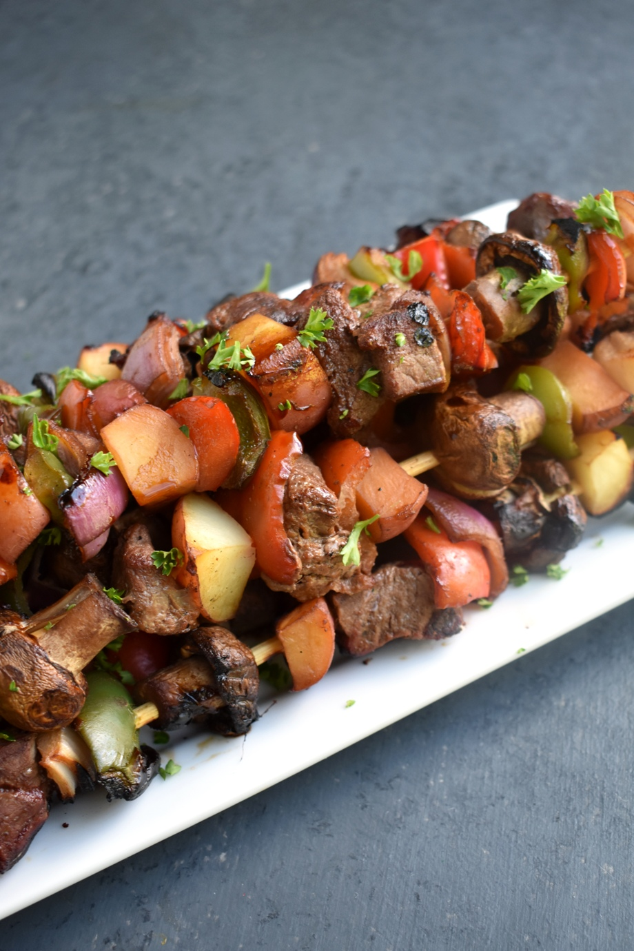 healthy steak kebab
