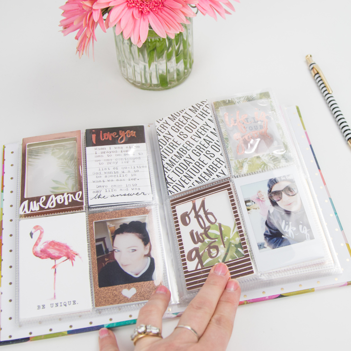 40 Selfies Before 40 Instax Album by @createoften for @heidiswapp