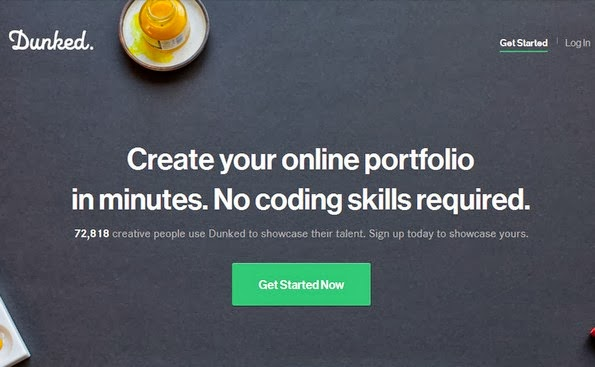 Dunked portfolio builder that requires no coding skills