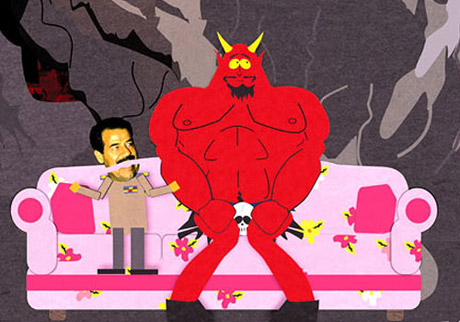 Satan and Saddam Hussein in South Park: Bigger, Longer and Uncut