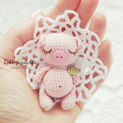 Свинка амигуруми игрушка крючком