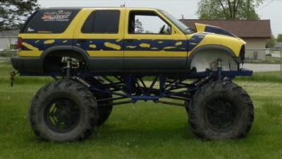 S 10 blazer mega truck for sale in michigan for Kansas dept of motor vehicles phone number