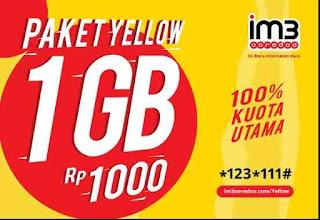 Cara-daftar-paket-internet-Murah-Yellow-Indosat -Harga-Rp-1000-Kuota-1Gb