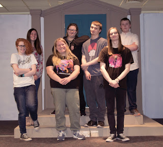 From left-right are: Kara Ghisalbert, Teaghan LeBlanc, Elizabeth Sicard, Madison Jacobs, Brandon Lodi, Michael Hulbig, and Andrew Highcove