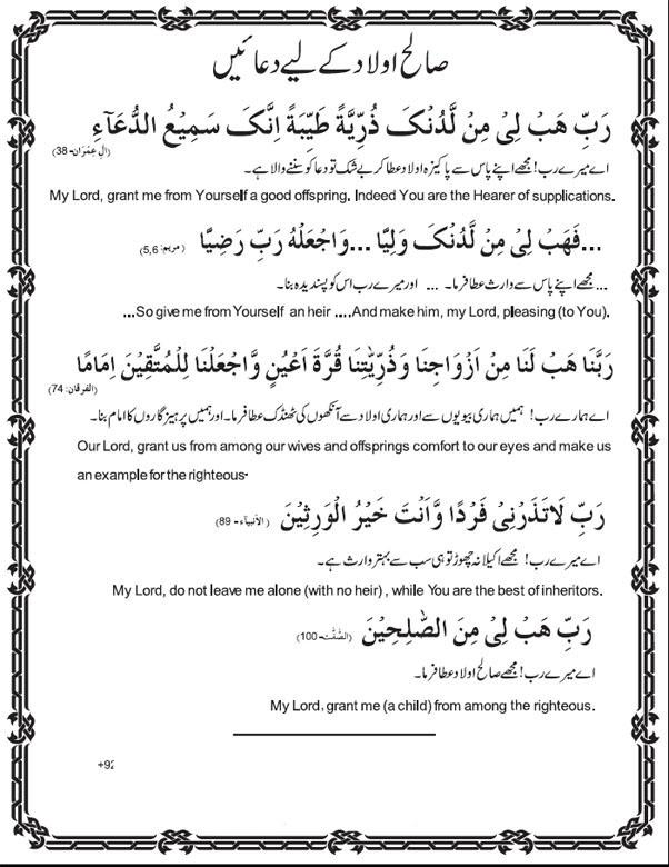 Islam, Quran and Duas: Dua for Children, Dua for Child Birth, Dua