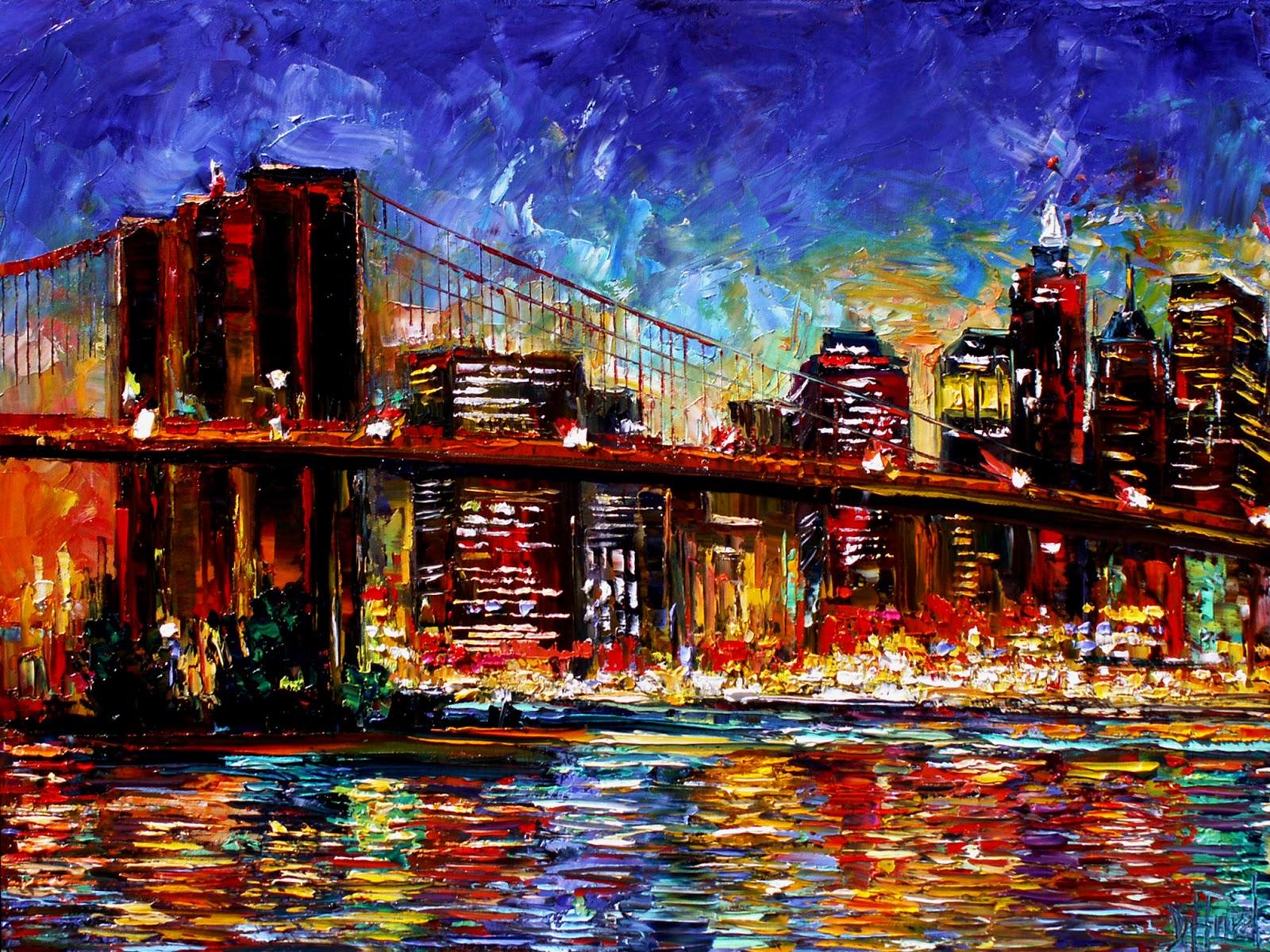 Debra Hurd Original Paintings AND Jazz Art: Cityscape New ...