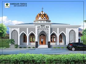 gambar desain masjid modern 1 lantai   sanggar teknik
