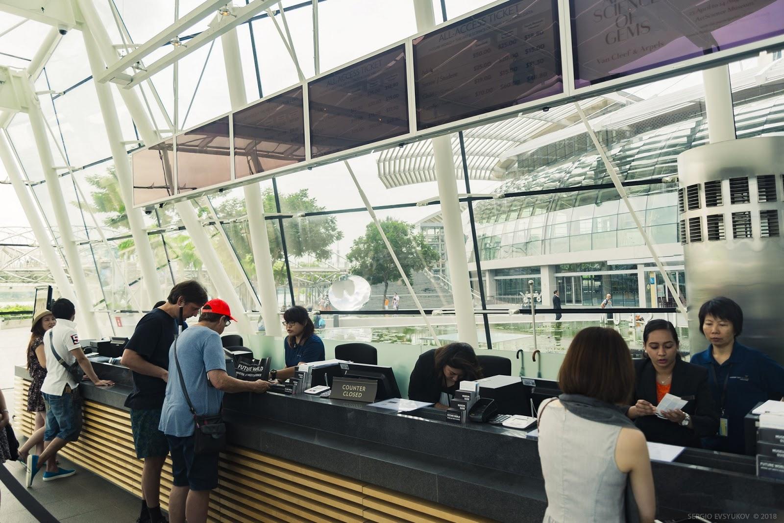 Касса Музея искусства и науки в Сингапуре