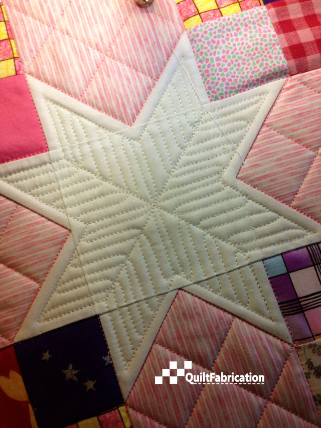 finished quilted sashing star