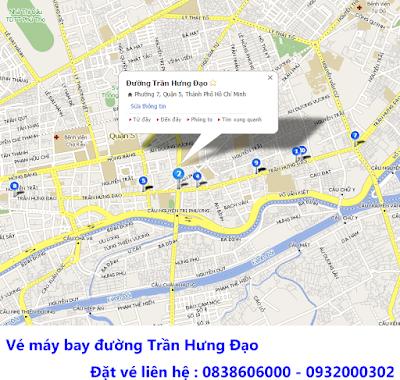 Địa chỉ bán vé máy bay khu vực đường Trần Hưng Đạo