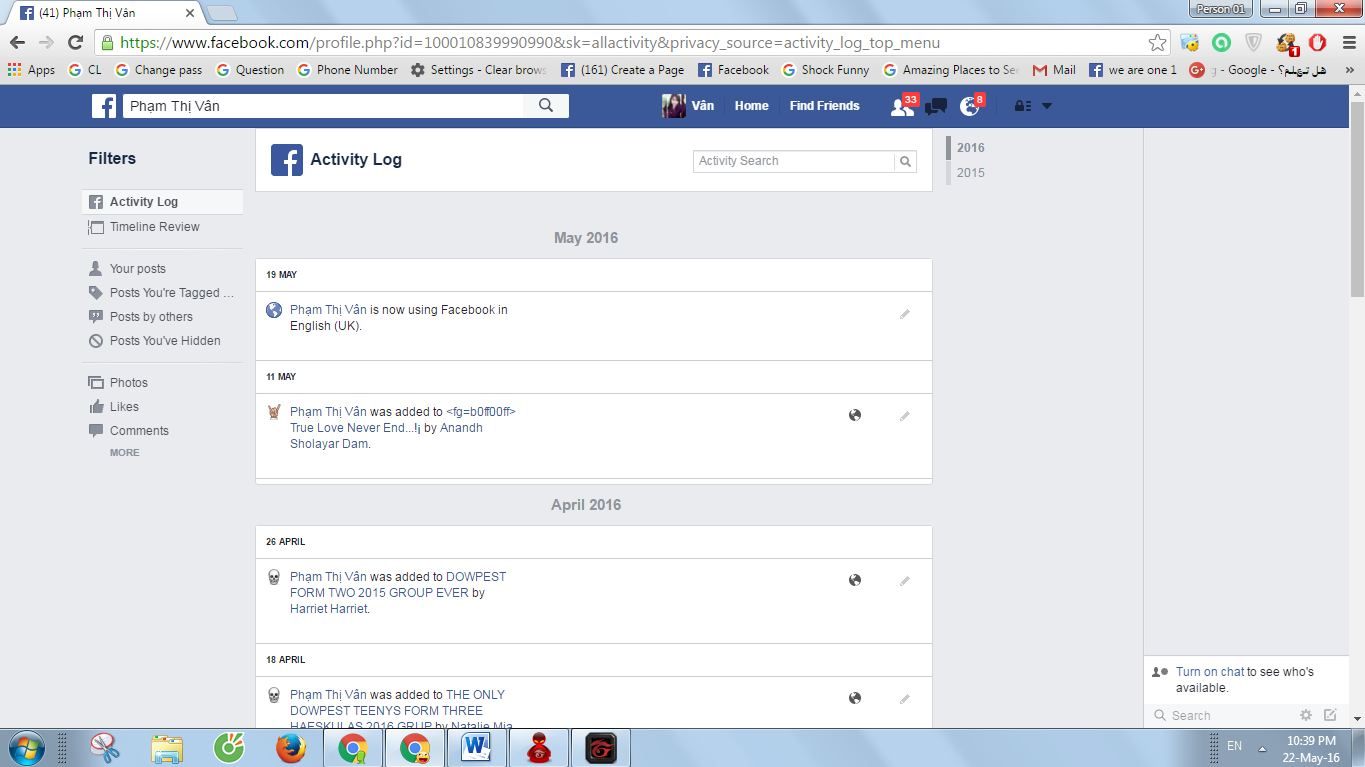 How to delete your activity log on facebook next click here and go to activity log ccuart Choice Image