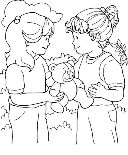 Desenhos Sobre Amigos Para Colorir Imagui