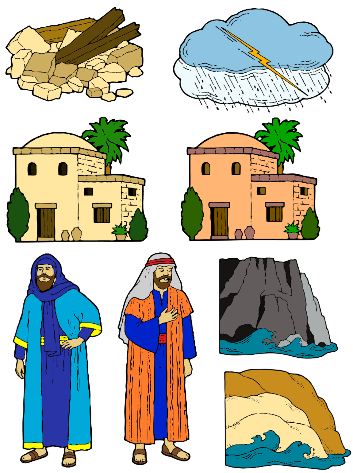 clipart house on rock - photo #9