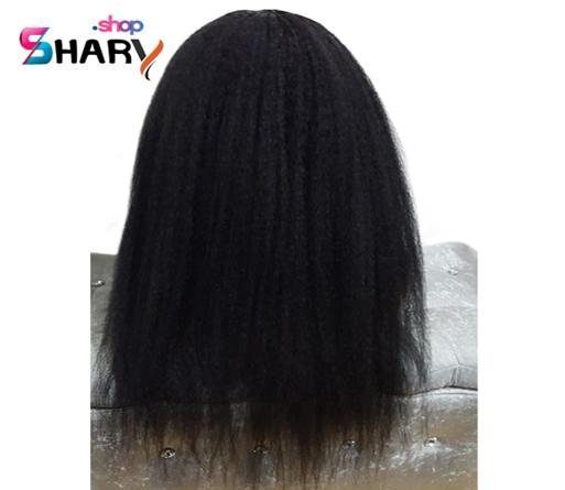 a0580f668f484 باروكة استريت شعر طبيعى برازيلى شعر اسود طول 18 انش