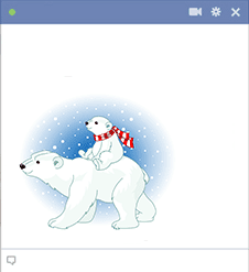 Polar bears - Sticker for Facebook