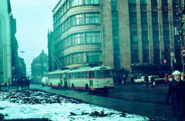 Троллейбус в Старой Риге